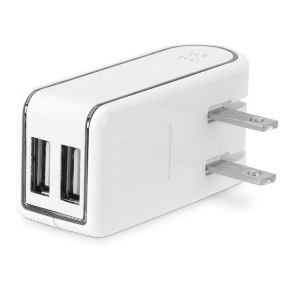 PureGear Dual USB Travel Charger 2.4A 12W - White