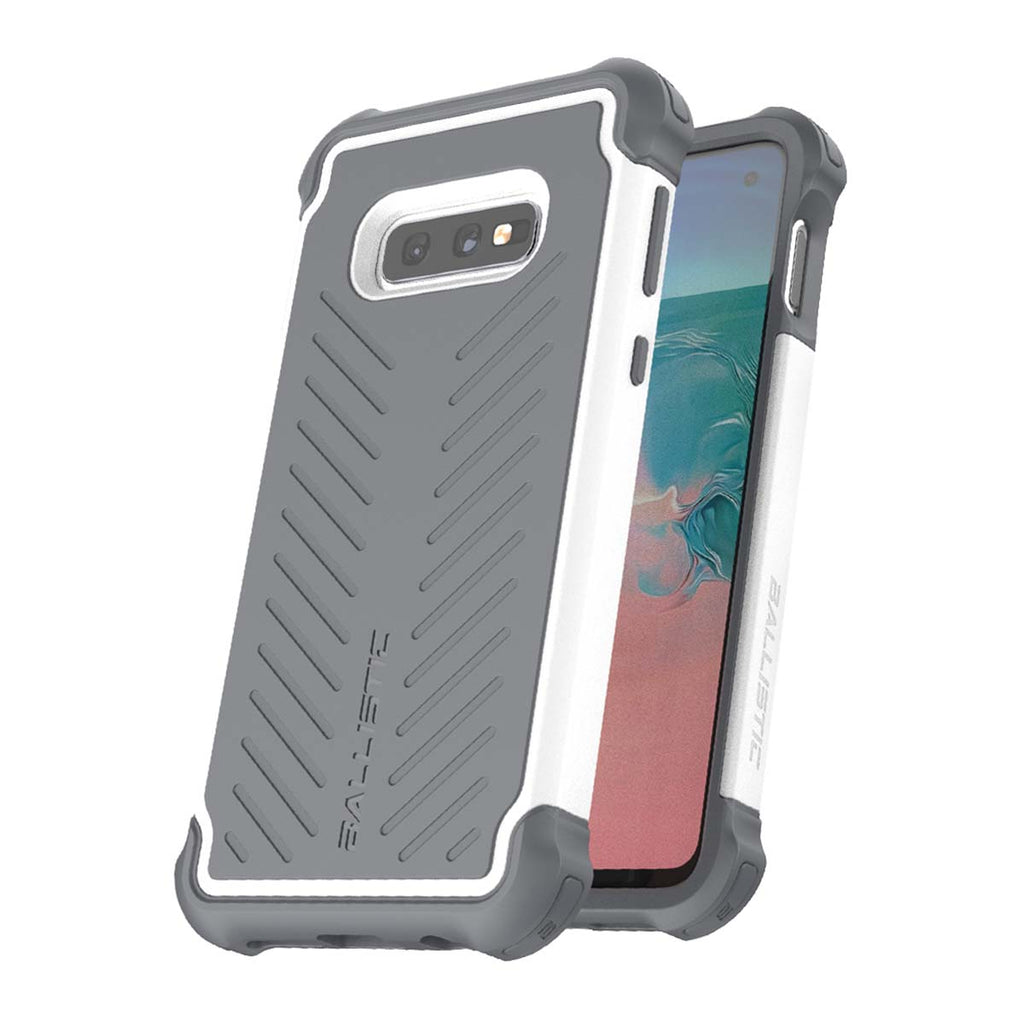 Ballistic Tough Jacket Series For Samsung Galaxy S10E - White/Gray