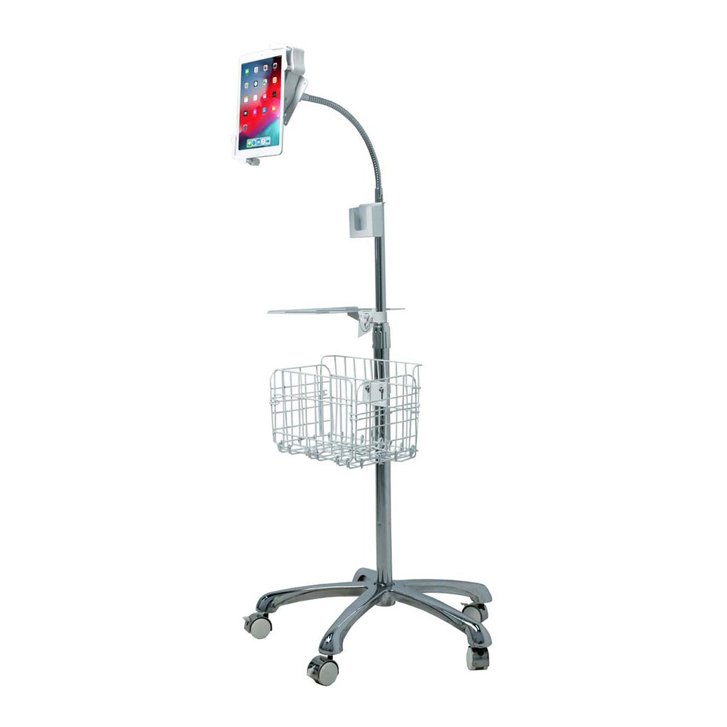 CTA Digital Inc. Heavy-Duty Gooseneck Floor Stand With Vesa Plate For 7-14 Inch Tablets