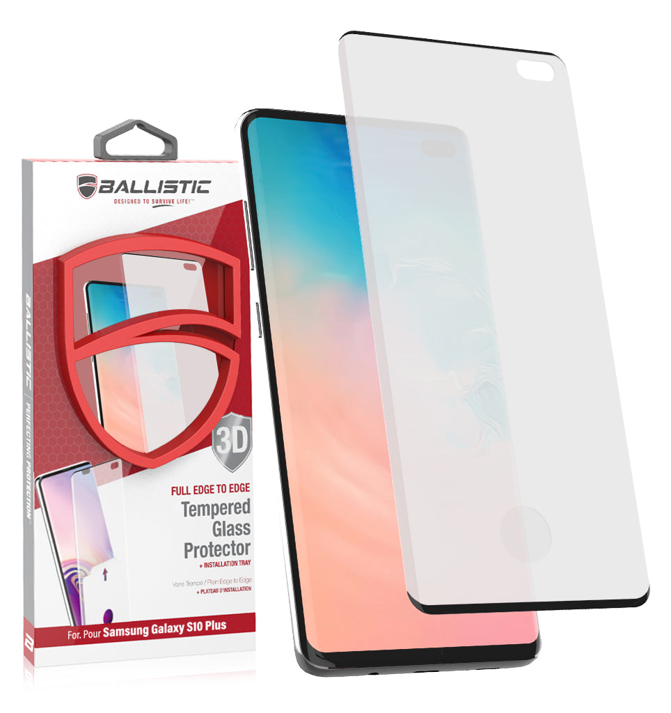 Ballistic Full Edge Glass Screen Protector (Installation Tray) For Samsung Galaxy S10 Plus