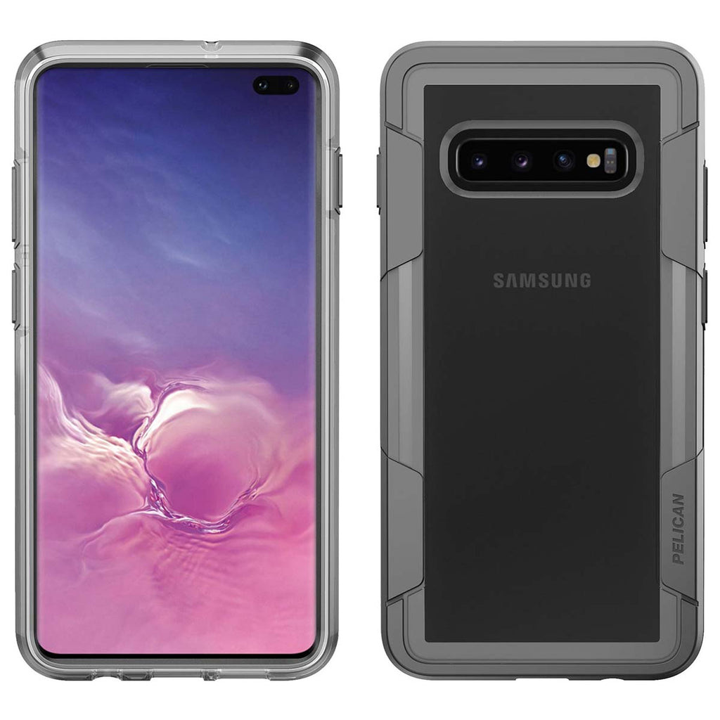 Pelican Voyager For Samsung Galaxy S10 Plus - Clear/Gray
