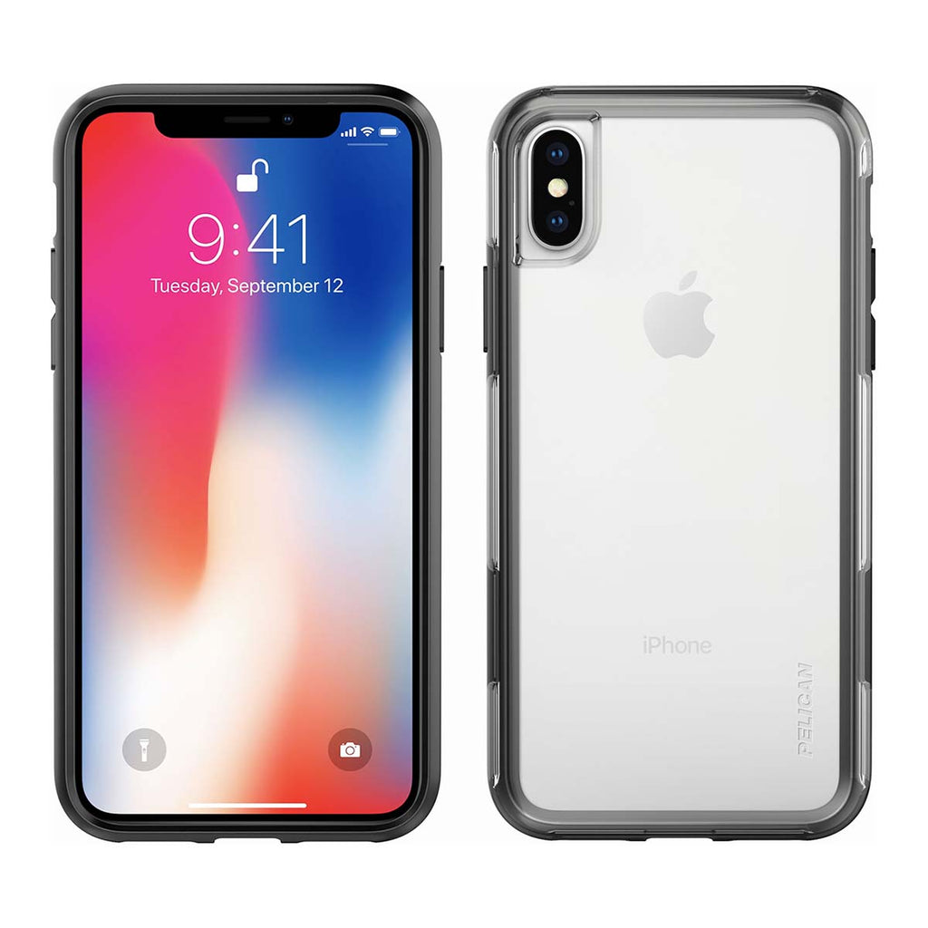 Pelican Adventurer For iPhone X/XS - Clear/Black