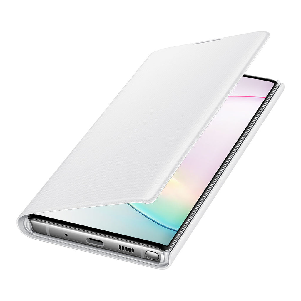 Samsung LED Wallet Cover For Galaxy Note 10 - White