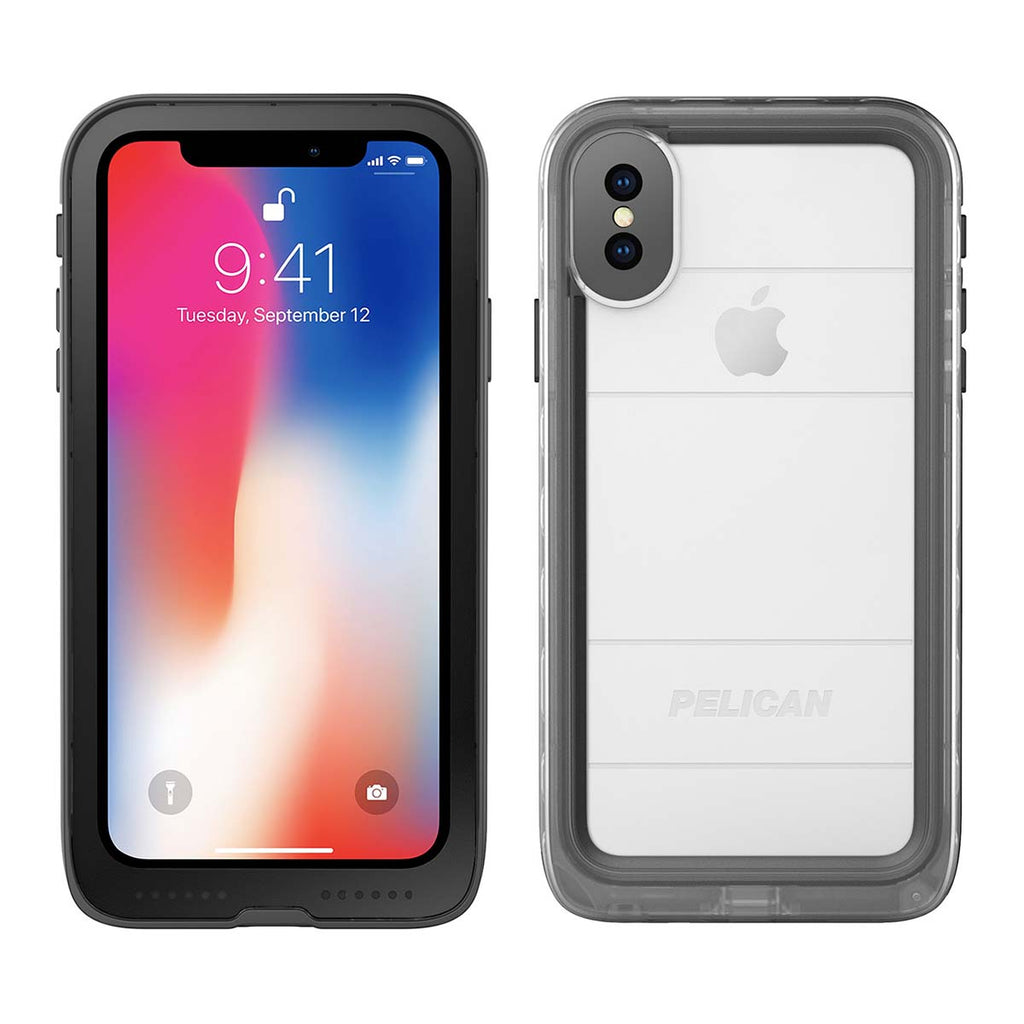 Pelican Marine For iPhone X/XS - Clear/Black