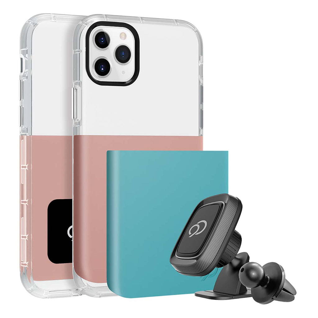 Nimbus9 Ghost 2 Pro Case For iPhone 11 Pro Max / XS Max  - Rose Gold / Turquoise Blue