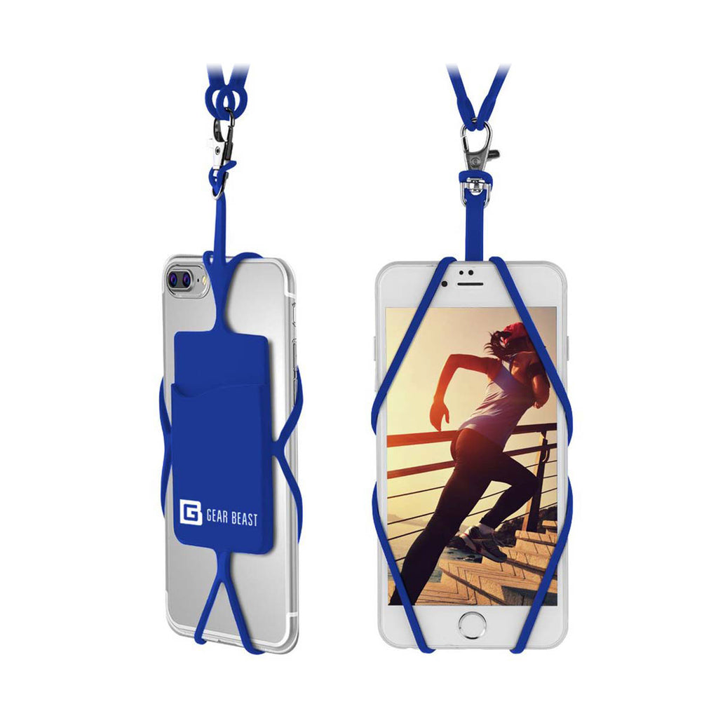 Gear Beast Universal Smart Phone Lanyard With Id Card Slot - Navy