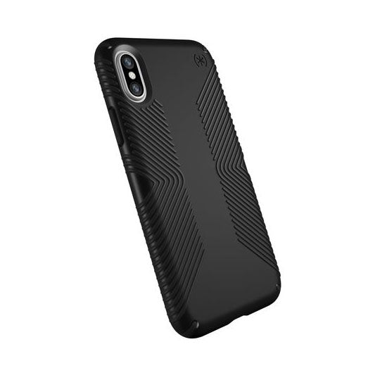 Speck Presidio Grip Case For iPhone X - Black/Black
