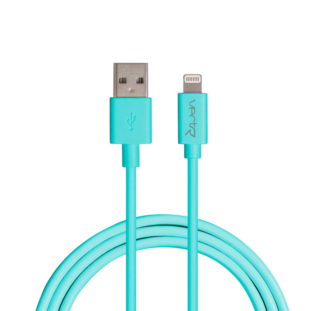 Vectr PVC Lightning Cable 3ft - Teal