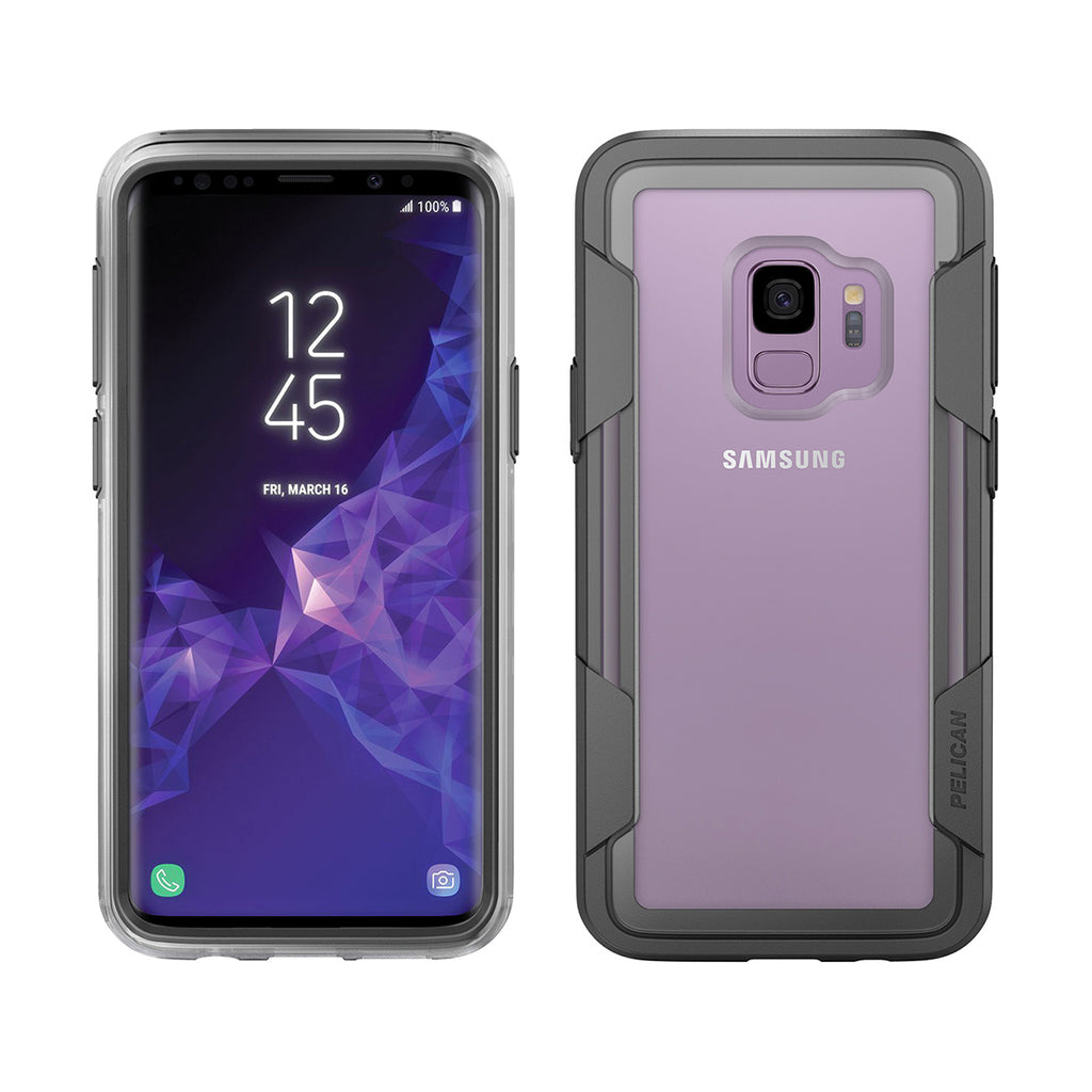 Pelican Voyager For Samsung Galaxy S9 - Clear/Gray