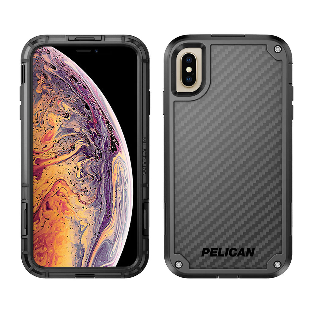 Pelican Shield For iPhone XS Max - Black/Black
