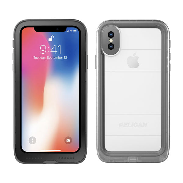 Pelican Marine Case For iPhone X - Black/Clear