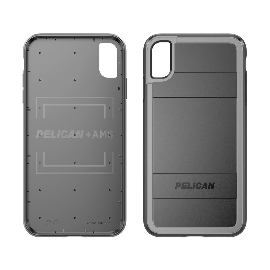 Pelican Protector + AMS For iPhone XS Max - Black/Light Gray