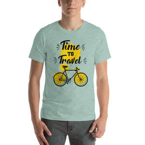(TIME TO TRAVEL) T-shirt Unisexe à Manches Courtes