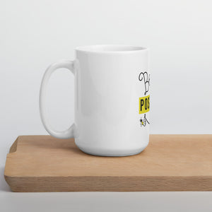 Mug Blanc Brillant BEE POSITIVE