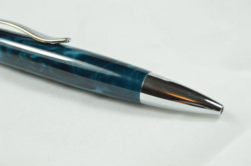 Aldeburgh Twist Ballpoint in Teal Acrylic