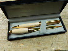Load image into Gallery viewer, Gift Set Featuring Southwold Twist Hickory Ballpoint and Matching Letter Opener