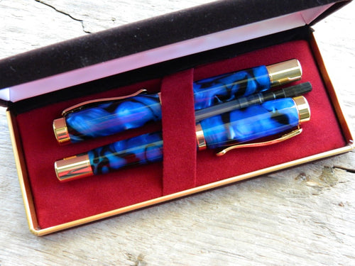 Suffolk Regent Black Blue Acrylic Gift Set