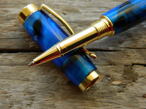 Suffolk Regent Rollerball Black/Blue Acrylic