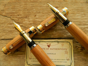 Suffolk King Fountain Pen/Rollerball Pen Gift Set Whiskey Barrel