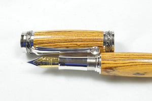 Emperor Fountain Pen in Bocote Wood
