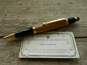 "Needham Twist Ballpoint ""Whiskey Barrel"" With Stylus"