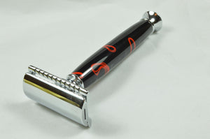 Safety Razor - Black & Red Acrylic