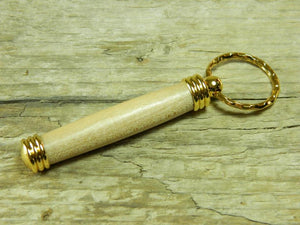 Handmade Secret Keeper Keyring Hickory