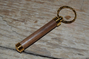 Handmade Secret Keeper Keyring Antique Oak
