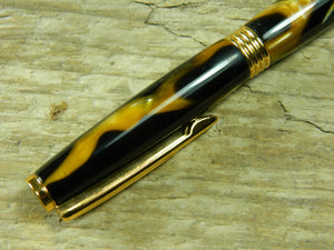 Southwold Twist Ballpoint Gold Yellow Black Acrylic