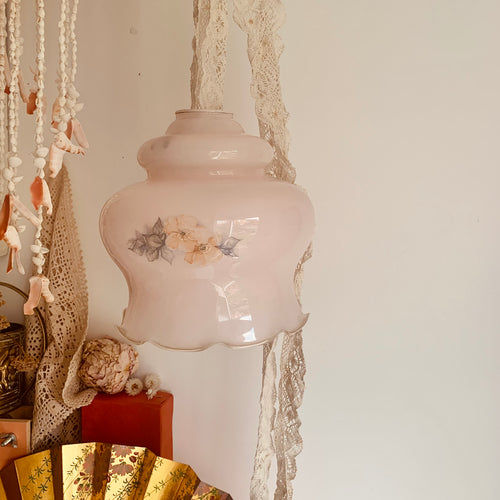 Vintage glass light pendant