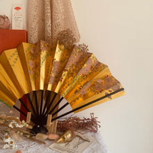 Load image into Gallery viewer, Vintage Japanese double sided paper fan