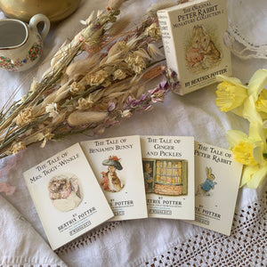Vintage miniature Beatrix Potter stories box set