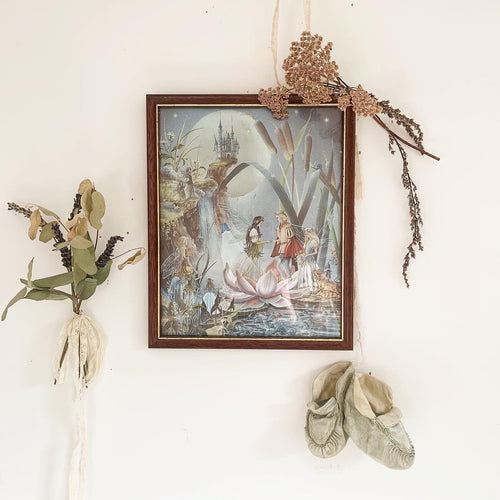 Vintage fairy wedding dufex framed foil print