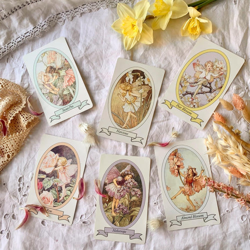 Vintage flower fairy large playing cards (sold separately)