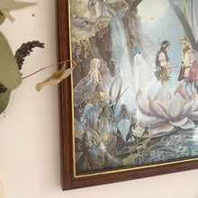 Load image into Gallery viewer, Vintage fairy wedding dufex framed foil print