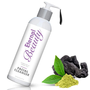 Detoxifying Charcoal Face Wash by Eternal Beauty - Cruelty Free, Gluten Free, Non Comedogenic. For All Skin Types, Removes Dirt, and Makeup from Your Pores, Detoxifies, Based on Natural Ingredients!