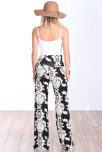 Load image into Gallery viewer, Black Fold Over Printed Palazzo Pants