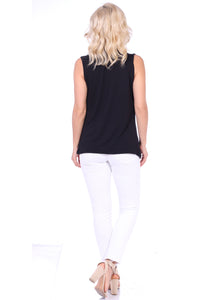 Criss Cross Sleeveless Drape Top