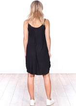 Load image into Gallery viewer, Black Side Slit Sleeveless Dress
