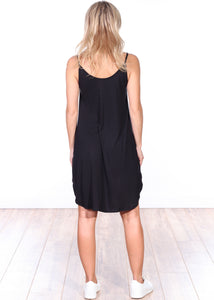 Black Side Slit Sleeveless Dress