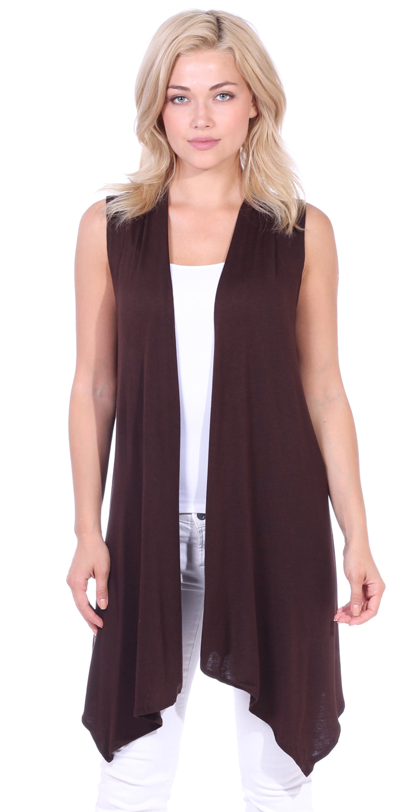 Sleeveless Open Vest