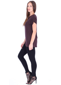 Sleeve Round Neck Tunic Top