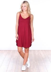 Side Slit Sleeveless Dress