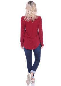 Scoop Long Sleeve Top