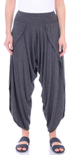 Load image into Gallery viewer, Charcoal Comfy Harem Pants