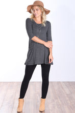 Load image into Gallery viewer, 3/4 Sleeve Tunic Pocket Top