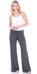 Charcoal Fold Over Palazzo Pants