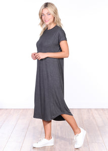 Short Sleeve Midi Dress
