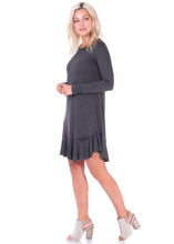 Load image into Gallery viewer, Long Sleeve Ruffle Hem Dress