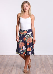 DT09 Fold Over Midi Skirt
